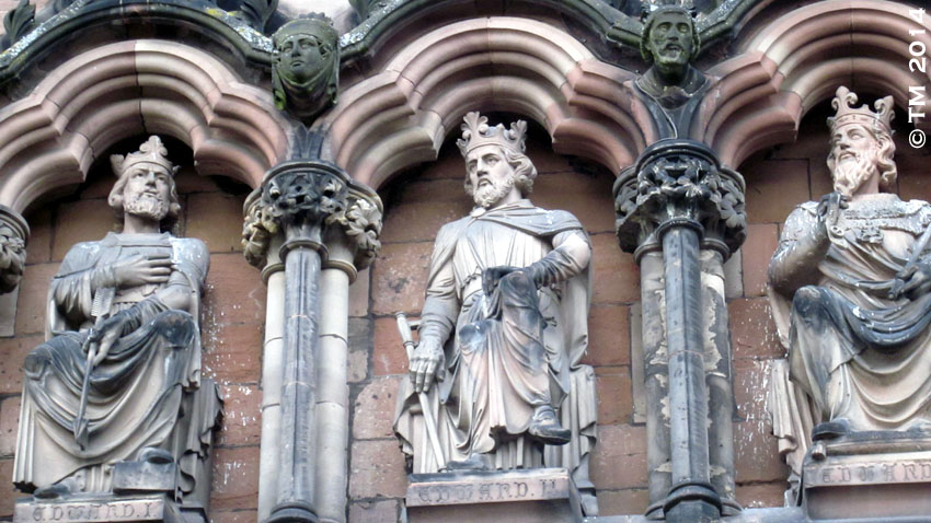 King Edward III his father and grandfather, Lichfield Cathedral