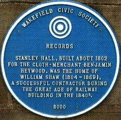 Civic Society Plaque on Stanley Hall