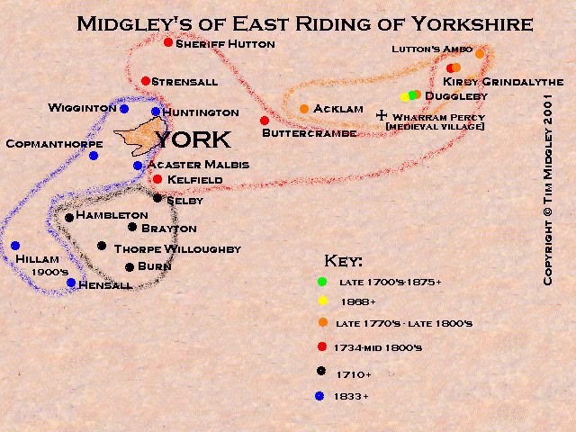 Midgley families of East Riding