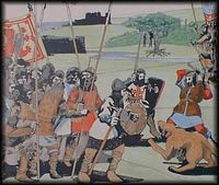Artist's impression of the battle of Halidon Hill 1333.