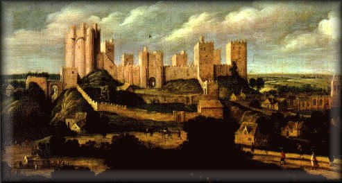 The famous painting of Pontefract Castle.