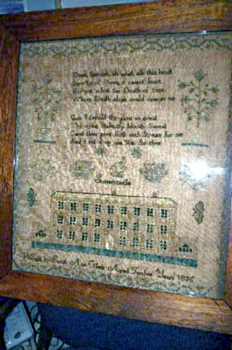 Sampler of Sarah Midgley nee Clegg, aged 12