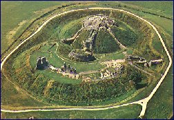 Motte and bailey at Sandal bulit by William de Warrene