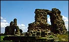 Ruins of Sandal Castle, near Wakefield.