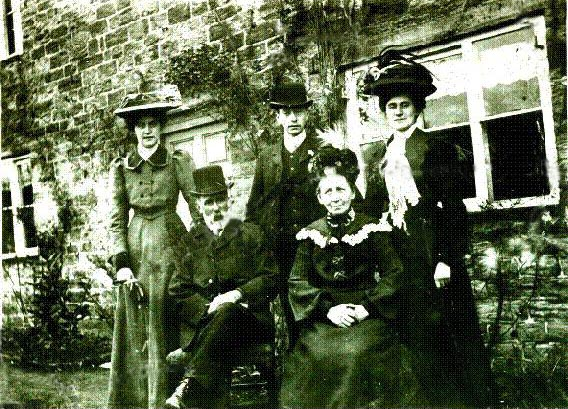 Thomas and Elizabeth Midgley and part of family, Thimble Hall.