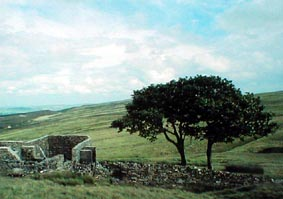 Top Withens ,once the residence of David Midgley, the inspiration for Wuthering Heights .