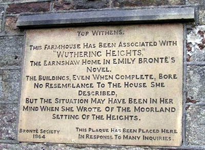 Plaque at Top Withens